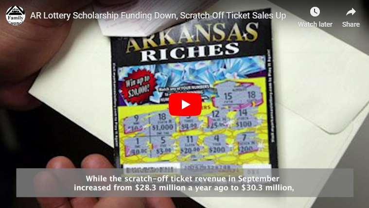Video: AR Lottery Scholarship Funding Down, Scratch-Off Ticket Sales Up