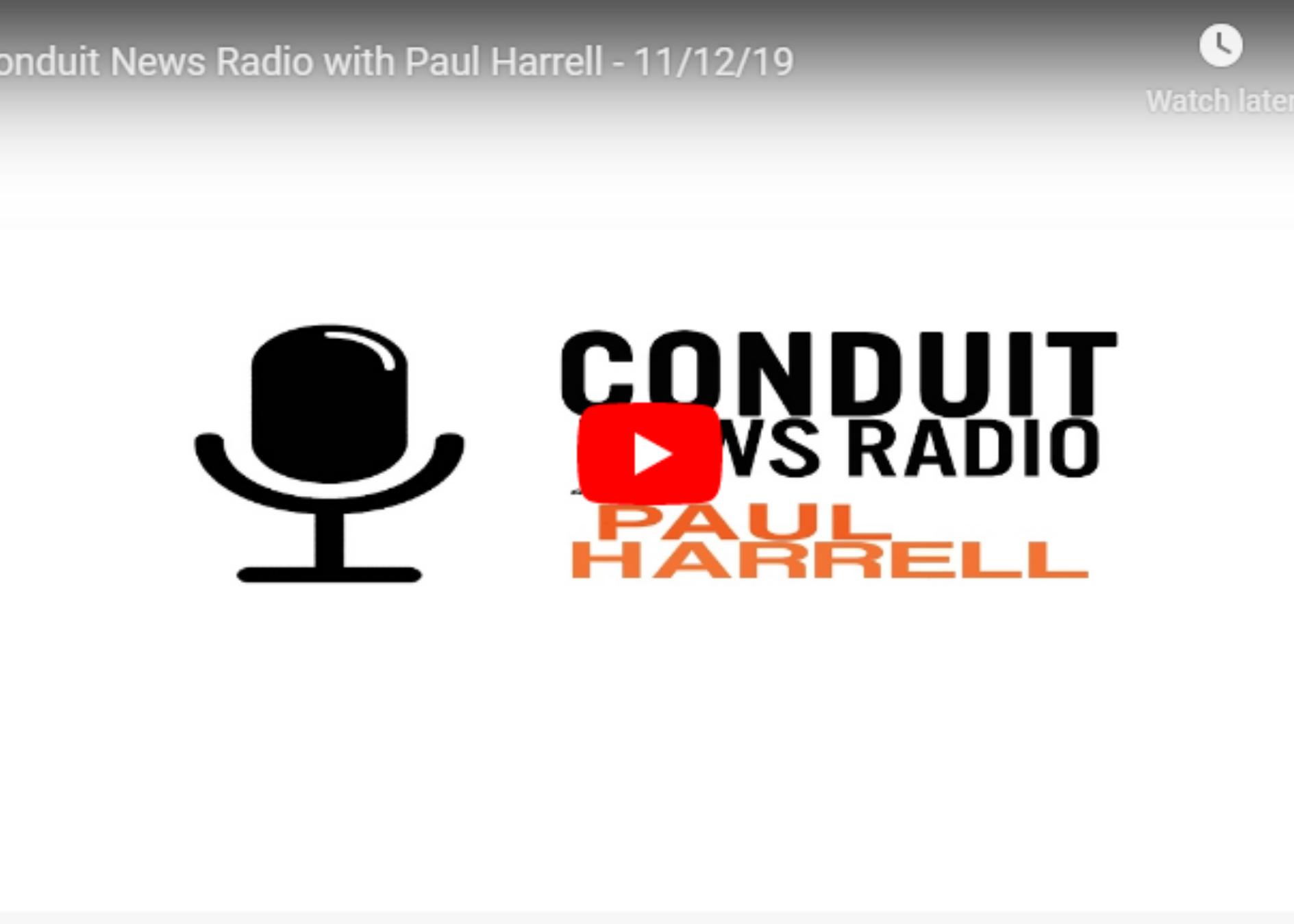 Listen to Jerry on Conduit News Radio