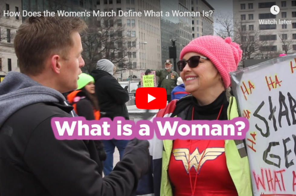 Video: How Does the Women's March Define What a Woman Is?