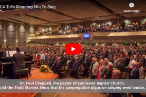 Video: CA Tells Churches Not To Sing